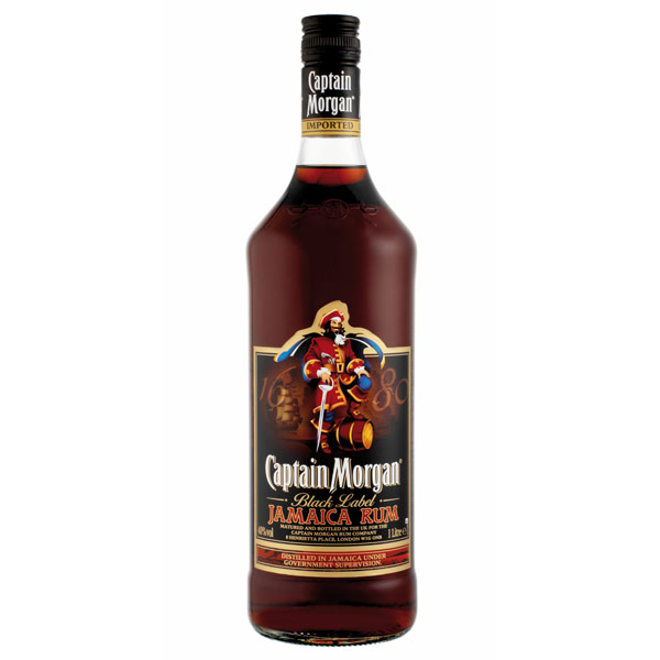 CAPITAN Captain MORGAN BLACK etichetta nera RUM cl 100