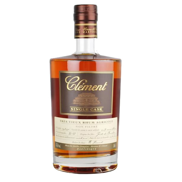 CLEMENT TRES single cask VIEUX CANNE BLEUE rum agricolo cl 70