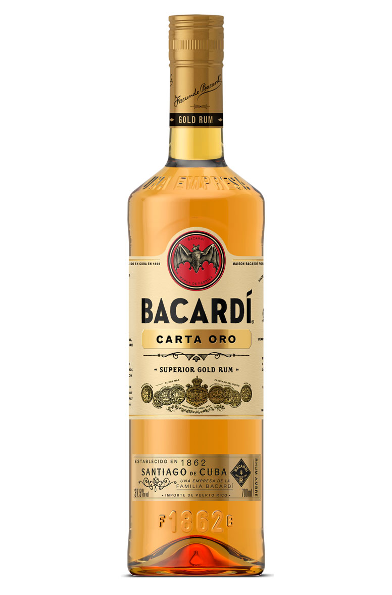BACARDI CARTA ORO ron superior cl 100